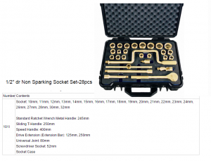 Non spaking socket set